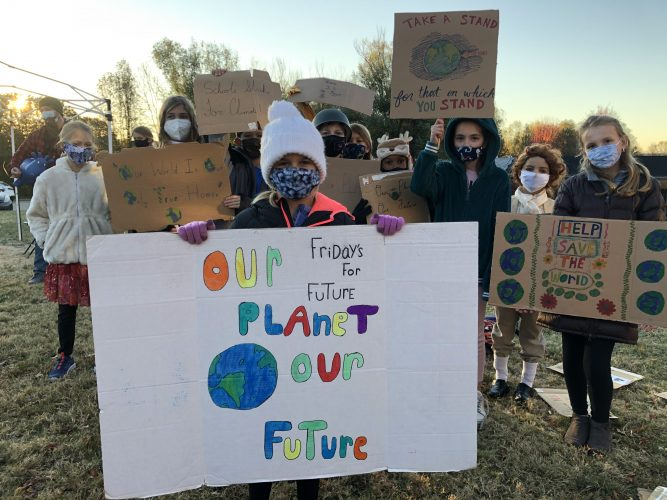 Inspired by Greta Thunberg, Raintree student leads weekly protest about climate change